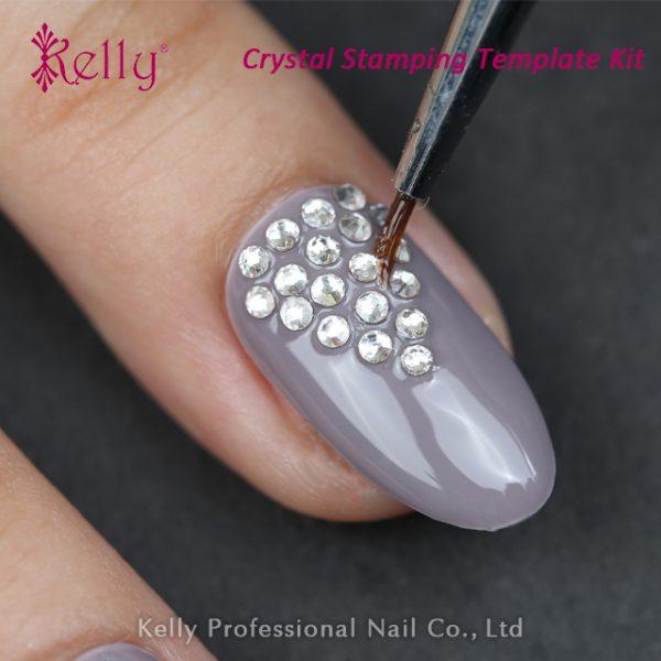Crystal stamping template kit-12