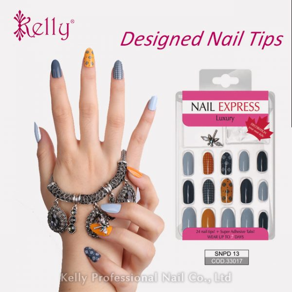 New Designed Full Cover Printing False Nail Tips Decorated ...